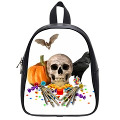 Halloween Candy Keeper School Bag (small) by Valentinaart