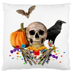 Halloween Candy Keeper Large Cushion Case (one Side) by Valentinaart