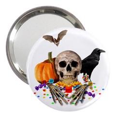Halloween Candy Keeper 3  Handbag Mirrors by Valentinaart