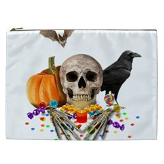 Halloween Candy Keeper Cosmetic Bag (xxl)  by Valentinaart