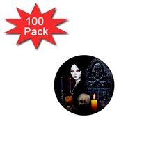 Vampires Night  1  Mini Magnets (100 Pack)  by Valentinaart