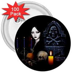 Vampires Night  3  Buttons (100 Pack)  by Valentinaart
