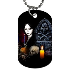Vampires Night  Dog Tag (two Sides) by Valentinaart