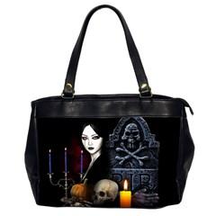 Vampires Night  Office Handbags (2 Sides)  by Valentinaart