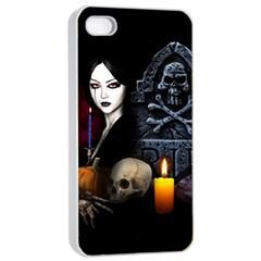 Vampires Night  Apple Iphone 4/4s Seamless Case (white) by Valentinaart