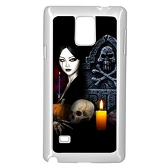 Vampires Night  Samsung Galaxy Note 4 Case (white) by Valentinaart