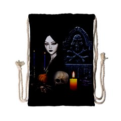 Vampires Night  Drawstring Bag (small) by Valentinaart