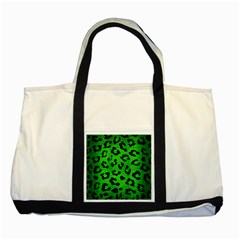 Skin5 Black Marble & Green Brushed Metal Two Tone Tote Bag by trendistuff