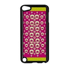 Going Gold Or Metal On Fern Pop Art Apple Ipod Touch 5 Case (black) by pepitasart