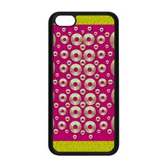 Going Gold Or Metal On Fern Pop Art Apple Iphone 5c Seamless Case (black) by pepitasart