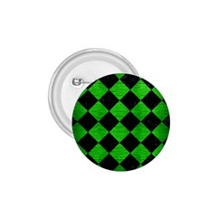 Square2 Black Marble & Green Brushed Metal 1 75  Buttons by trendistuff