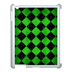 Square2 Black Marble & Green Brushed Metal Apple Ipad 3/4 Case (white) by trendistuff