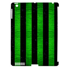 Stripes1 Black Marble & Green Brushed Metal Apple Ipad 3/4 Hardshell Case (compatible With Smart Cover) by trendistuff