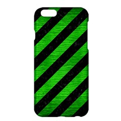 Stripes3 Black Marble & Green Brushed Metal Apple Iphone 6 Plus/6s Plus Hardshell Case by trendistuff