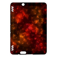 Spiders On Red Kindle Fire Hdx Hardshell Case by AllOverIt