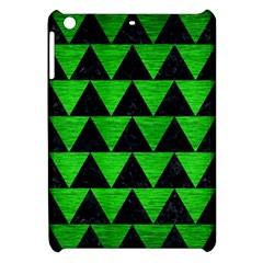 Triangle2 Black Marble & Green Brushed Metal Apple Ipad Mini Hardshell Case by trendistuff