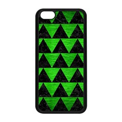 Triangle2 Black Marble & Green Brushed Metal Apple Iphone 5c Seamless Case (black) by trendistuff