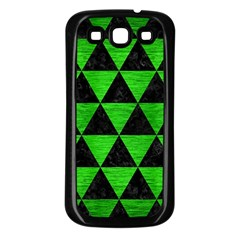 Triangle3 Black Marble & Green Brushed Metal Samsung Galaxy S3 Back Case (black) by trendistuff