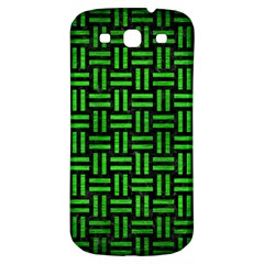 Woven1 Black Marble & Green Brushed Metal Samsung Galaxy S3 S Iii Classic Hardshell Back Case by trendistuff