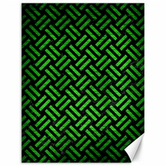 Woven2 Black Marble & Green Brushed Metal Canvas 12  X 16   by trendistuff