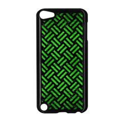 Woven2 Black Marble & Green Brushed Metal Apple Ipod Touch 5 Case (black) by trendistuff