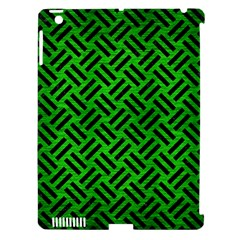 Woven2 Black Marble & Green Brushed Metal (r) Apple Ipad 3/4 Hardshell Case (compatible With Smart Cover) by trendistuff
