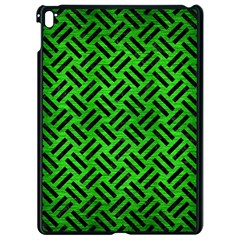 Woven2 Black Marble & Green Brushed Metal (r) Apple Ipad Pro 9 7   Black Seamless Case by trendistuff