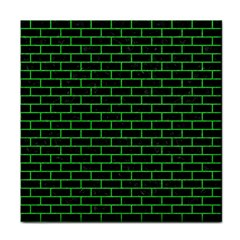 Brick1 Black Marble & Green Colored Pencil Face Towel by trendistuff