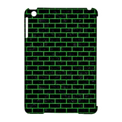 Brick1 Black Marble & Green Colored Pencil Apple Ipad Mini Hardshell Case (compatible With Smart Cover) by trendistuff