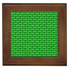 Brick1 Black Marble & Green Colored Pencil (r) Framed Tiles by trendistuff
