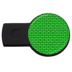 Brick1 Black Marble & Green Colored Pencil (r) Usb Flash Drive Round (2 Gb) by trendistuff