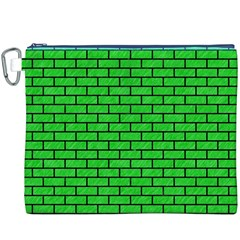 Brick1 Black Marble & Green Colored Pencil (r) Canvas Cosmetic Bag (xxxl) by trendistuff