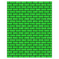 Brick1 Black Marble & Green Colored Pencil (r) Drawstring Bag (small) by trendistuff