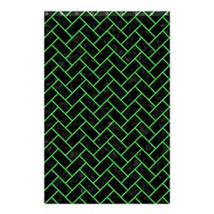 Brick2 Black Marble & Green Colored Pencil Shower Curtain 48  X 72  (small)  by trendistuff