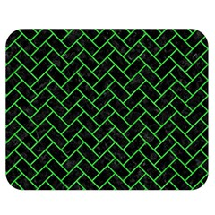Brick2 Black Marble & Green Colored Pencil Double Sided Flano Blanket (medium)  by trendistuff