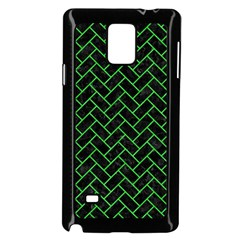 Brick2 Black Marble & Green Colored Pencil Samsung Galaxy Note 4 Case (black) by trendistuff