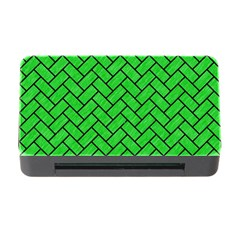 Brick2 Black Marble & Green Colored Pencil (r) Memory Card Reader With Cf by trendistuff