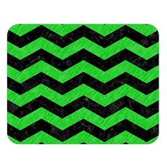 Chevron3 Black Marble & Green Colored Pencil Double Sided Flano Blanket (large)  by trendistuff