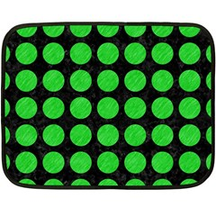 Circles1 Black Marble & Green Colored Pencil Fleece Blanket (mini) by trendistuff