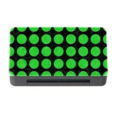 Circles1 Black Marble & Green Colored Pencil Memory Card Reader With Cf by trendistuff