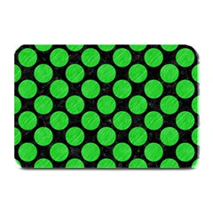 Circles2 Black Marble & Green Colored Pencil Plate Mats by trendistuff