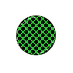 Circles2 Black Marble & Green Colored Pencil (r) Hat Clip Ball Marker by trendistuff
