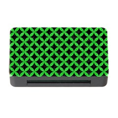 Circles3 Black Marble & Green Colored Pencil Memory Card Reader With Cf by trendistuff
