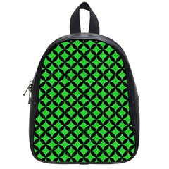 Circles3 Black Marble & Green Colored Pencil (r) School Bag (small) by trendistuff