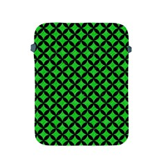 Circles3 Black Marble & Green Colored Pencil (r) Apple Ipad 2/3/4 Protective Soft Cases by trendistuff