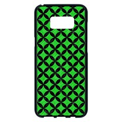 Circles3 Black Marble & Green Colored Pencil (r) Samsung Galaxy S8 Plus Black Seamless Case by trendistuff