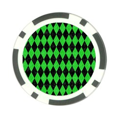 Diamond1 Black Marble & Green Colored Pencil Poker Chip Card Guard (10 Pack) by trendistuff