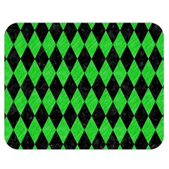Diamond1 Black Marble & Green Colored Pencil Double Sided Flano Blanket (medium)  by trendistuff