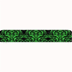 Damask1 Black Marble & Green Colored Pencil Small Bar Mats by trendistuff