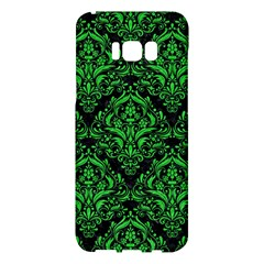 Damask1 Black Marble & Green Colored Pencil Samsung Galaxy S8 Plus Hardshell Case  by trendistuff